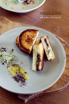 Brioche and Chocolate Grilled Cheese Sandwich with kaya.
