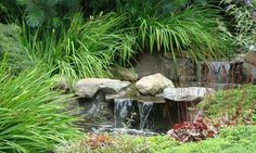 Waterfall Water Features Design Ideas, Pictures, Remodel and Decor