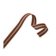 Black & Red Stripe Cream Ribbon