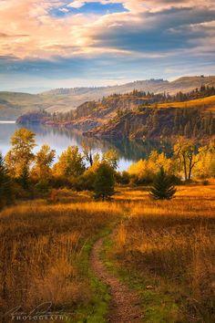Autumn (Kalamalka Lake, Okanagan, BC) by Nick Fitzharding
