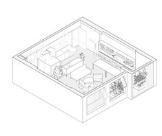 Image 6 of 14 from gallery of Rivaparc Apartment Renovation / Nhabe Scholae. Photograph by Hyroyuki Oki Axonometric View, Photoshop Rendering, Mini Clubman, Apartment Renovation, Architecture Graphics, Home Design Plans, Autocad, Habitats, How To Draw Hands