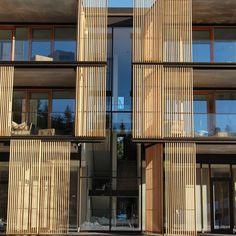 Wood Architecture Building shell by Rubner Holzbau Wooden Cladding Exterior, Wooden Facade, Wooden Buildings, Tropical Architecture, Wood Architecture, Contemporary Architecture, Architecture Details, Facade Design, Exterior Design
