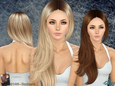 Rochelle Hairstyle by Cazy - Sims 3 Hairs Sims 3 Cc Finds, The Sims 4 Cabelos, Sims Hair, Hair Setting, Sims 1, Sims Mods, Very Long Hair, Pretty Hairstyles, Female Hairstyles