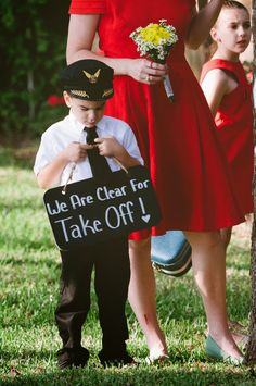 Ring bearer sign idea Direction card idea - paper airplanes we are ready for takeoff.jpg