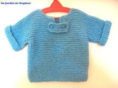Voici le tuto tout facile pour tricoter le pull de bébé. Ce pull se tricote d'une seule pièce manches comprises...!