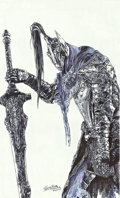 Artorias by gustavosasquatch on DeviantArt Arte Dark Souls, Dark Souls 2, Dark Souls Artorias, Wolf Knight, Soul Saga, Bloodborne Art, Soul Tattoo, Anime Soul, Arte Cyberpunk