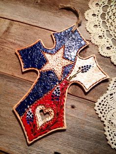 Fancy Texas Cross with Bluebonnets / Texas by TexasAngelGifts, $28.00
