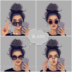 « شفتو هذي النظارات الجميله الي رسمتها إذا حابين مثلها وأكثر تابعو هذا الحساب بتلاقوها عندهم @sbx_glasses حساب مختص بتوفير نظارات شمسية & طبيه ماركات… »