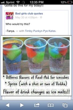 Nice mixed drink