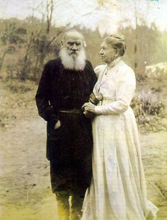 Tolstoy and the woman who stood by his side until the end even when she did not understand what it was that made him go away without her... in the end she fought her way through the guards to sit by his side for his last breath. So beautiful.
