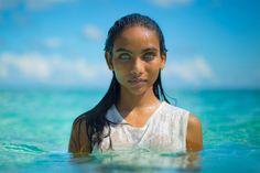 Maldivian Girl. Her eyes are entrancing...