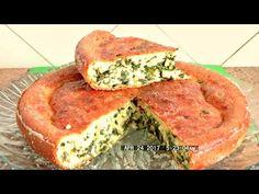 Заливной пирог с рыбой и картофелем, рецепт вкусного теста на сметане - YouTube