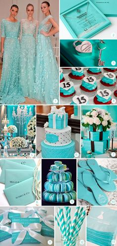 Tiffany & Co. Tiffany Blue Weddings, Tiffany Theme, Tiffany Wedding, Tiffany Birthday Party, Tiffany Party, Birthday Parties, Wedding Themes, Wedding Colors, Wedding Decorations