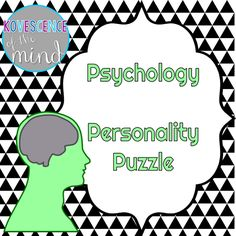 Activities for the Psychology Classroom: Personality Puzzles