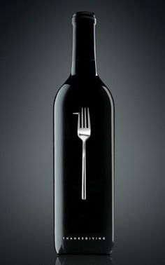 You don't always have to shout it...  (stunning minimal Thanksgiving wine design)