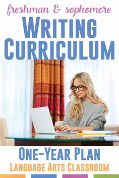 Looking for where to start with a writing curriculum? This outlines the basics of a freshmen and sophomore writing curriculum. Writing Curriculum, Writing Lessons, Teaching Writing, Teaching English, Homeschooling, Writing Strategies, Writing Ideas, Teaching Tips, Creative Writing