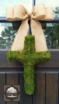 Hey, I found this really awesome Etsy listing at https://www.etsy.com/listing/217288859/cross-easter-moss-wreath-easter-wreath