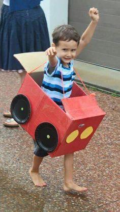 Criar  carrinho usando caixas de papelão