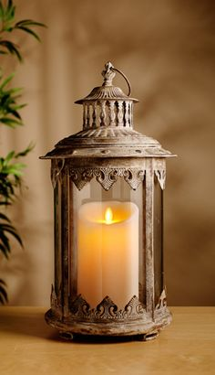 Beautiful Lantern..Really love this. Find things around your home that you can put a candle in.
