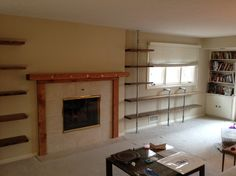 Omaha Pipe Shelves Design Ideas Rustic Living Room