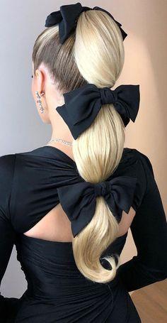 Braided Ponytail, Ponytail Hairstyles, Wedding Hairstyles, Little Presents, Wedding Hair Inspiration, High Ponytails, Black Women Hairstyles, Hair Goals, Bikini Set