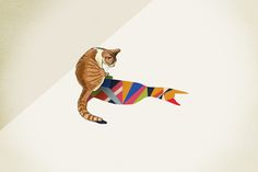 """Walking Shadow, Cat"" Art Print by Jason Ratliff"
