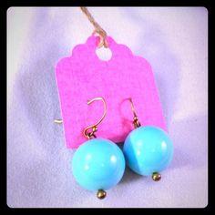 """Wendy Mink Gumdrop Earrings So pretty. In a robin egg blue. 1/2"""" drop. Wendy Mink Jewelry Earrings"""