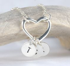 Personalized Hand Stamped Silver Necklace with by TheresaRose, $24.00 #etsy #theresarosedesigns