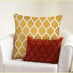 Craft Stencil Casablanca - size MED- Stencils for furniture, pillows, DIY home decor