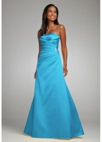 This is the dress I want for my bridesmaids.  David's bridal. ...Malibu blue