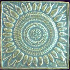 4 x 4 ceramic floral tile - 14.95