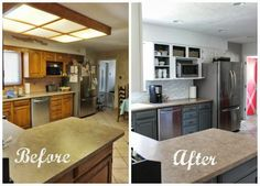 5 Worthy ideas: Kitchen Remodel Layout Before After galley kitchen remodel arches.Small Kitchen Remodel On A Budget kitchen remodel before and after black appliances.Mobile Home Kitchen Remodel Before And After. Cheap Kitchen Remodel, Galley Kitchen Remodel, Kitchen On A Budget, Kitchen Ideas, Diy Kitchen, Kitchen Decor, Remodel Bathroom, Kitchen Colors, Rustic Kitchen
