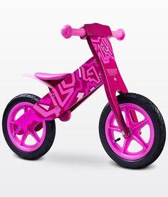 Bicicleta madera sin pedales Zap rosa [ZAP ROSA] | 69,00€ : La tienda online para tu peke | tienda bebe pekebuba.com