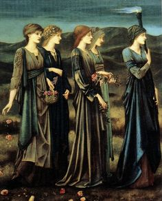 The Wedding of Psyche (detail) by Edward Burne-Jones, 1895.