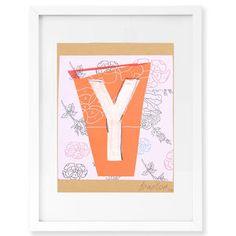 All Art - Trey Speegle Letter Series - Peach Y