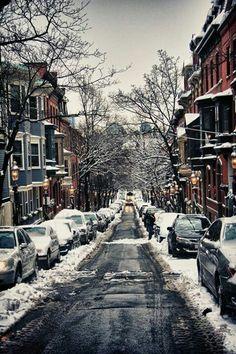 Boston brownstones. Hope this winter is easier on Boston than last year.[ SkiTimeTours.com ]