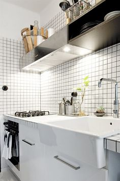 Black and White Apartment 39m²