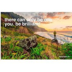 There can only be one you.  Be brilliant!