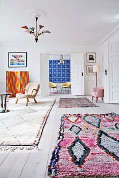 boucherouite rugs like this at Pink Rug Co. https://www.etsy.com/shop/pinkrugco