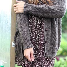 Sustainable wool, hand knit in Wales, cabled cardigan. Ohmugosh I'm in love.