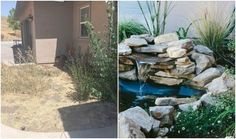 instead of planting flowers these homeowners did something brilliant, gardening, landscape, outdoor living, ponds water features, Project via Chanda and Sam Zest It Up