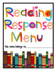 One Extra Degree: Reader Response Menu! (Freebie Alert!). Looks like it could lead me where I want to take my class!