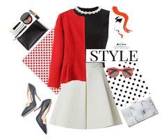 """Style"" by gul07 ❤ liked on Polyvore featuring moda, Simone Rocha, Paul Andrew, Bobbi Brown Cosmetics, Illesteva, Charlotte Olympia e Pussycat"
