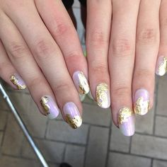 gold leaf nails are all the talk