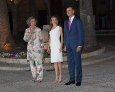 07 AUGUST 2014  Reception to the authorities in the Balearic Islands.