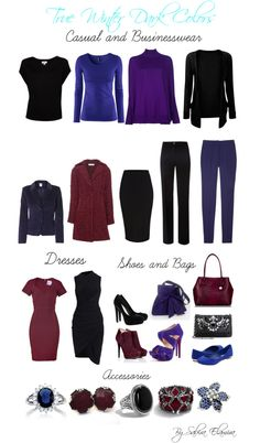 """True Winter Dark Colors"" by sabira-amira ❤ liked on Polyvore"