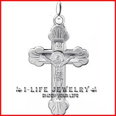 Freeshipping! 925 Silver Solid Euramerican Amber Latin Cross Pendant Necklaces for Mens 45cm Necklace $43.00