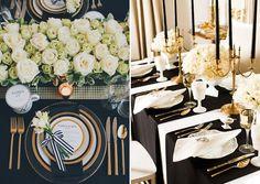 21 ideias de decoração em preto e branco para a festa de 15 anos - Constance Zahn | 15 anos