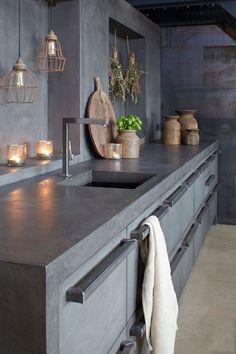 keukens met beton