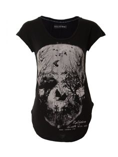 Religion Clothing Skull Forest SS Top in Jet Black at Serene Order. Wide range of Religion Men's and Women's. Skull Fashion, Gothic Fashion, Religion Clothing, I Love Fashion, Fashion Ideas, Love T Shirt, T Shirts For Women, Clothes For Women, Leather And Lace